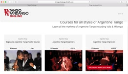 Some of the courses currently available on the Tango Fandango Video Resource